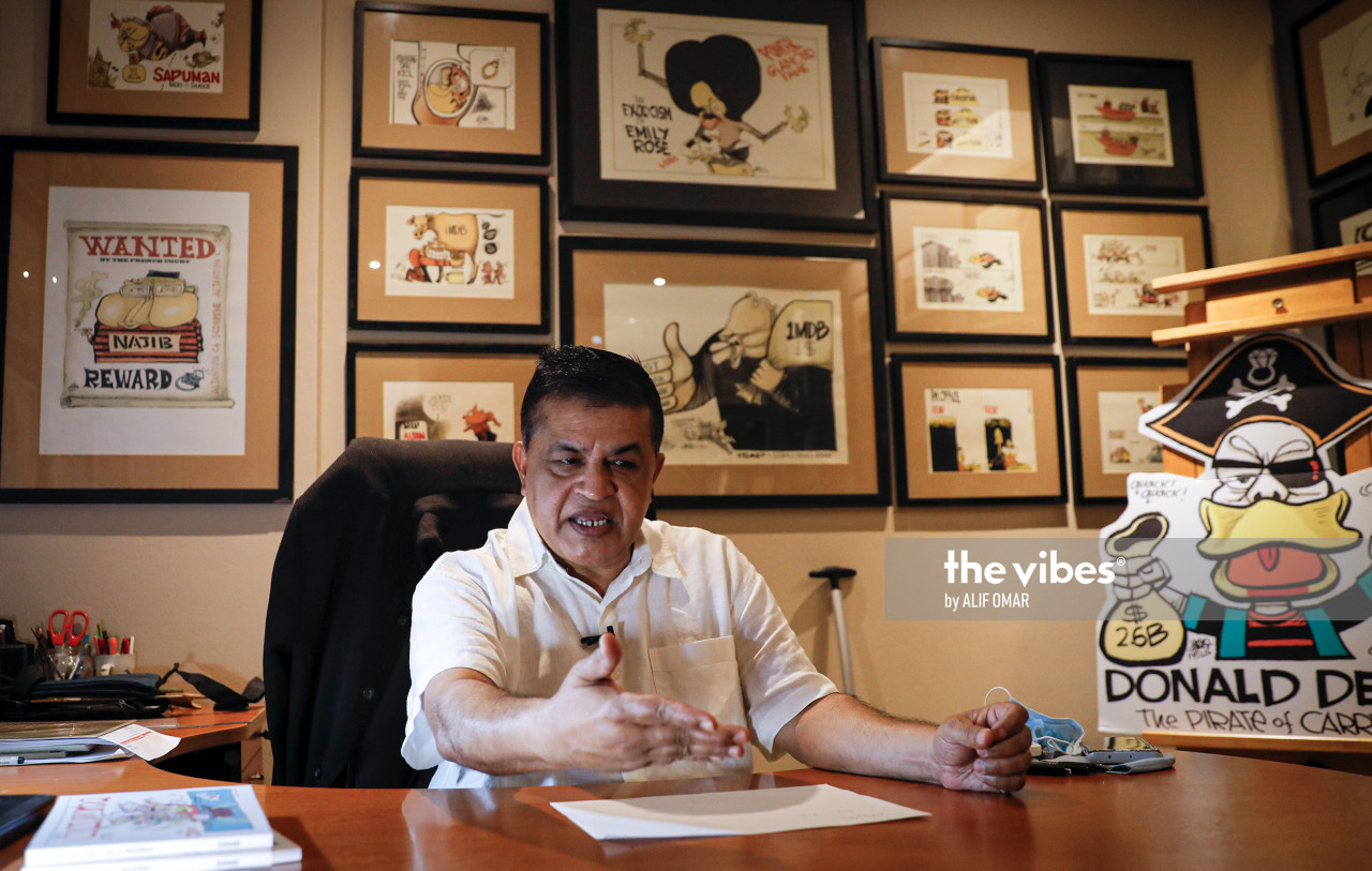 Zunar brands his latest book a 'Laugh Therapy' offering Malaysians escapism to ease the tensions of a year filled with health, economic and political turmoil. – The Vibes pic