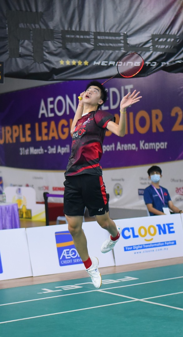Chow Wern Soon showed maturity in his display, beyond his age. - Malaysia purple league pic