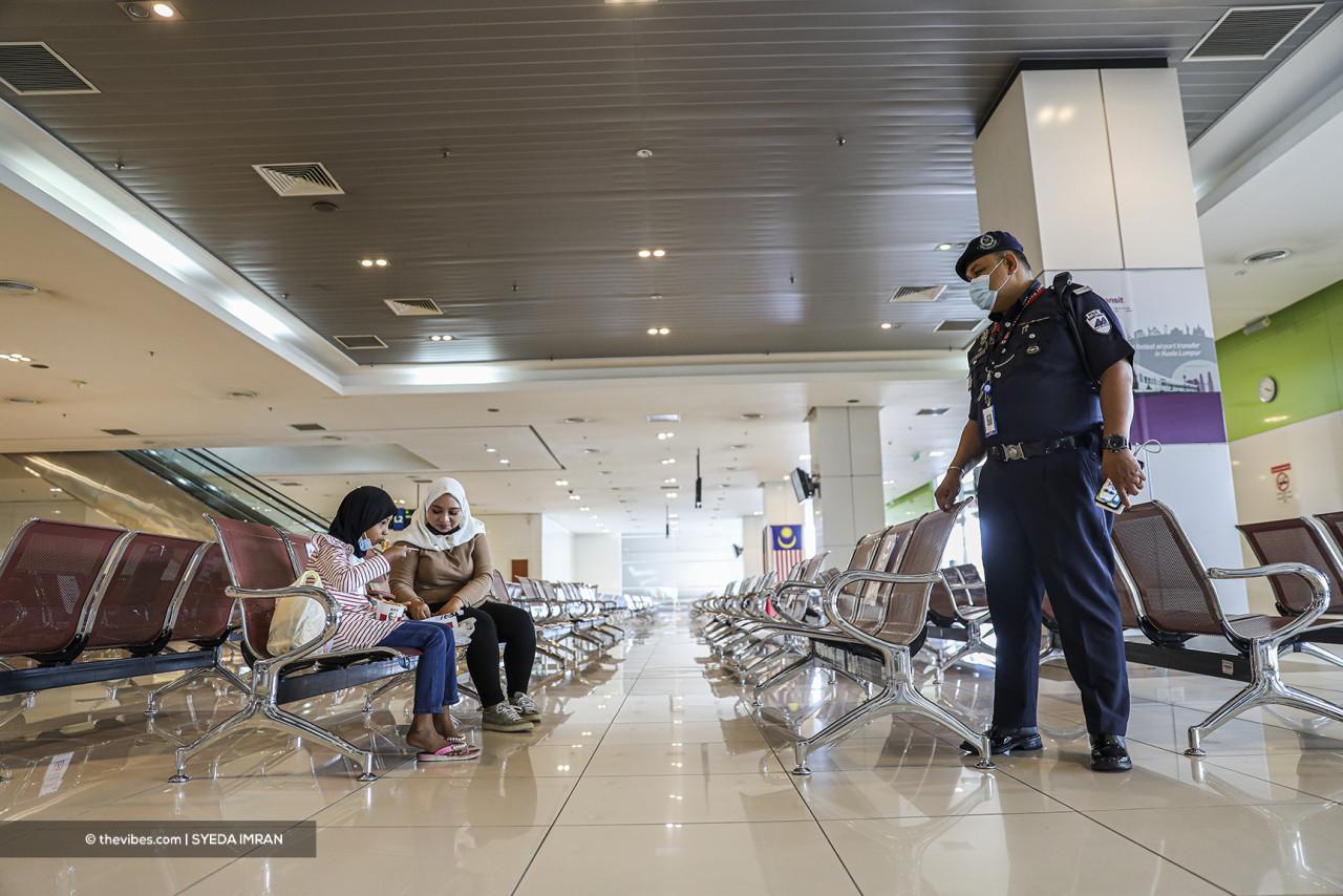 The Terminal Bersepadu Selatan bus depot is eerily empty. – SYEDA IMRAN/The Vibes pic, June 1, 2021