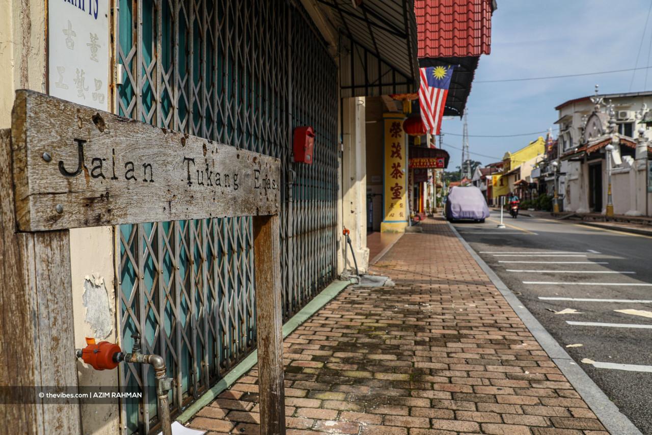 Silence along Jalan Tukang Besi, nearby Jonker Walk. – Azim Rahman/The Vibes pic