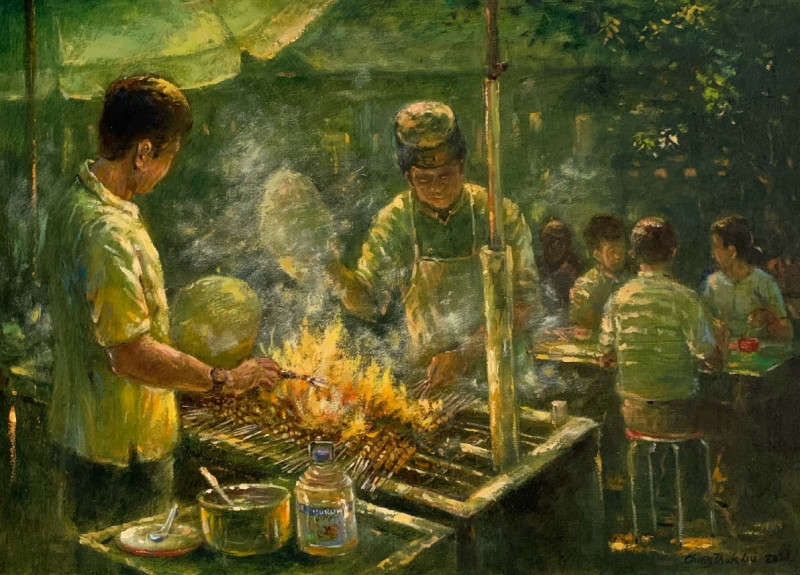Sentimental strokes: culinary spectacles on canvas